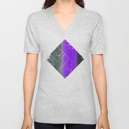 Diamond Effect Unisex V-Neck