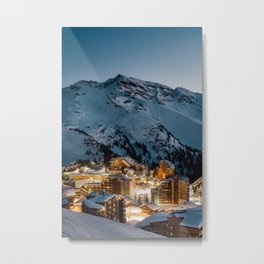 Avoriaz in Blue Hour Metal Print