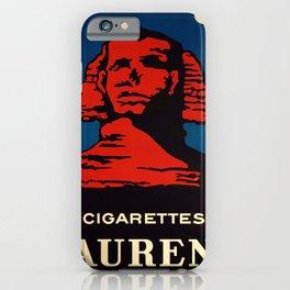 retro retro cigarettes laurens poster iPhone Case