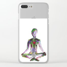 Colored Zen Clear iPhone Case
