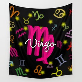 Virgo Floating Zodiac Wall Tapestry
