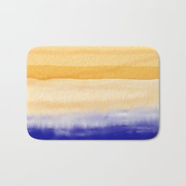 Brush Strokes Art, Watercolor, Color Theory Home Accessories Bath Mat