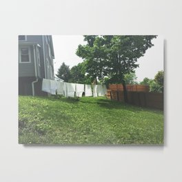 Laundry on the Line Metal Print