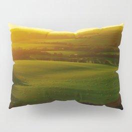 Sunrise Over Rolling Green Hills Pillow Sham