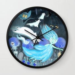 Spooky Lora Wall Clock