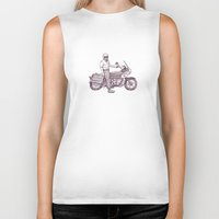 motorcycle Biker Tanks featuring Motorcycle by Sky Letson