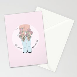 Get Out Of Your Own Way Stationery Cards