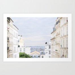 Urban landscape from Paris Art Print