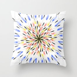 Geometric mandala Throw Pillow