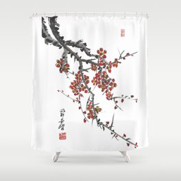 Cherry Blossom Two Shower Curtain
