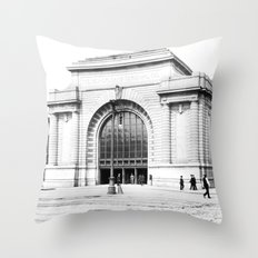 New Orleans Terminal, Canal Street Throw Pillow