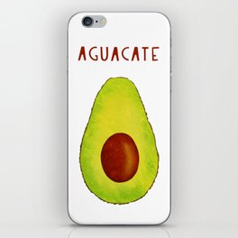 Aguacate Avocado Red Hand Lettering iPhone Skin