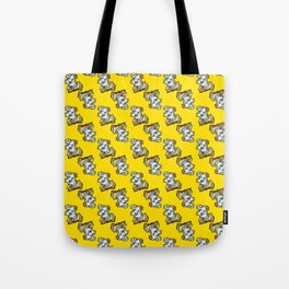 Magic Spellbook on Badger Yellow for Witch and Wizard School Tote Bag