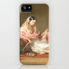 Muslim Lady Reclining - Renaldi iPhone Case