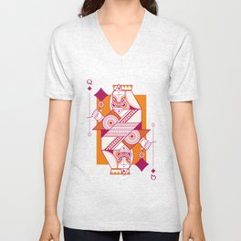 Delirium Queen of Diamonds Unisex V-Neck