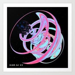 CYBERSPACE GALACTIC SWIRL Art Print