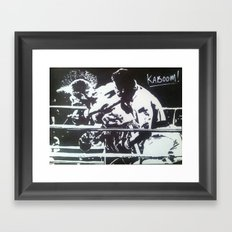 The Rumble Framed Art Print