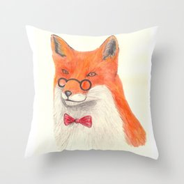 Mr Sly Throw Pillow