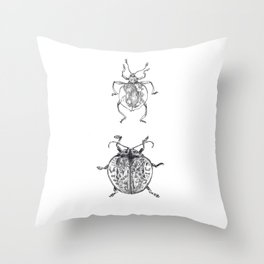 Sheildy Bugs Throw Pillow