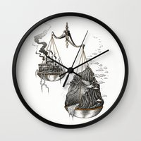 justice Wall Clocks featuring Justice by Mariya Olshevska