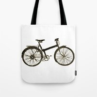 bicycle Tote Bags featuring Bicycle by chyworks