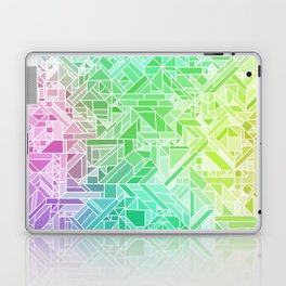 Bright Gradient (Violet Purple Lime Green Neon Yellow) Geometric Pattern Print Laptop & iPad Skin