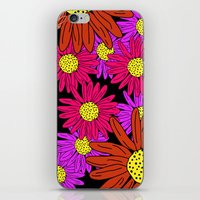 pushing daisies iPhone & iPod Skins featuring Pushing Daisies by Lotus&Moon