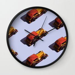Wooden cars Wall Clock