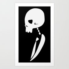 Inverted PARTY SKULL Art Print