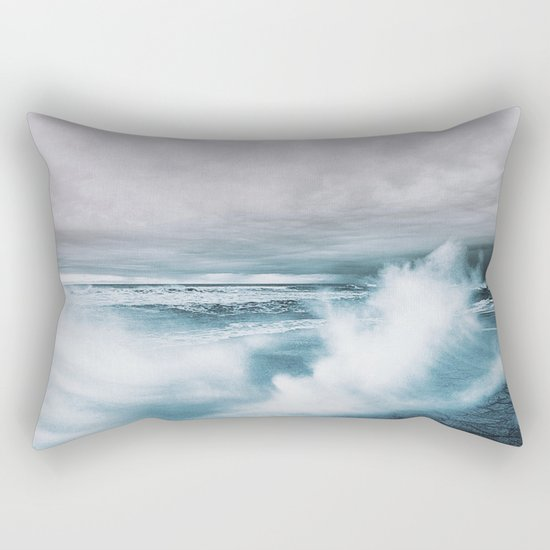 Moody Ocean Rectangular Pillow