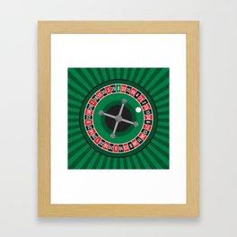 Roulette Wheel Framed Art Print