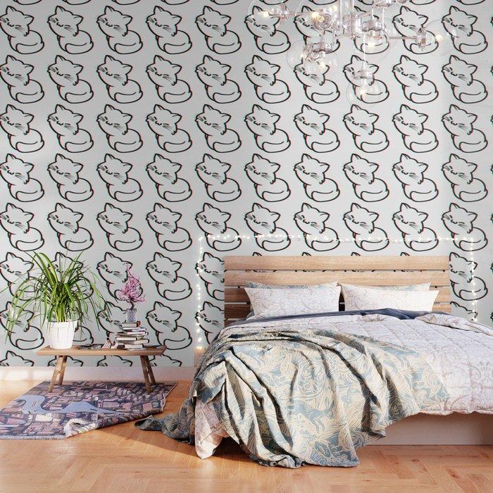 Cat 3d vintage Wallpaper by petitetangerine