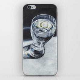 Glass of the water in the light iPhone Skin