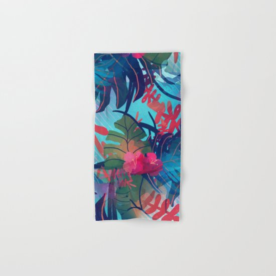 Tropical Blues Hand & Bath Towel