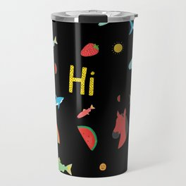 All Together Black Travel Mug