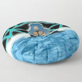 Inner Light: Throat Chakra Floor Pillow
