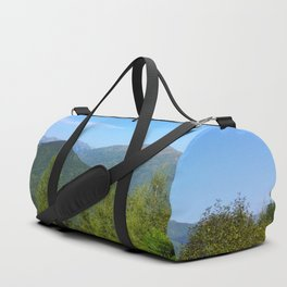 Mountain and trees Duffle Bag