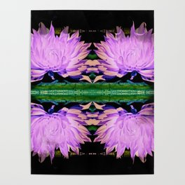 Double Symmetry Lonesome Flower Poster