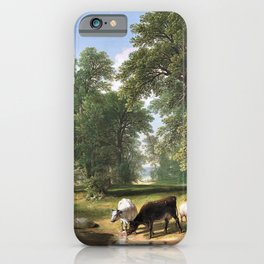 12,000pixel-500dpi - Asher Brown Durand - A Summer Afternoon - Digital Remastered Edition iPhone Case