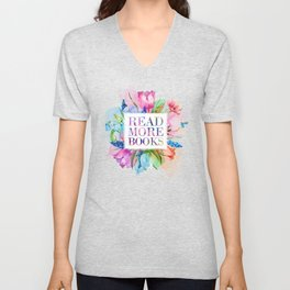 Read More Books Pastel Unisex V-Neck