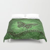 decorative Duvet Covers featuring Decorative butterfly by nicky2342