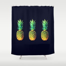 Night Knights Pineapples Shower Curtain
