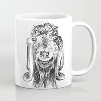 goat Mugs featuring Goat by Sarah Mosser