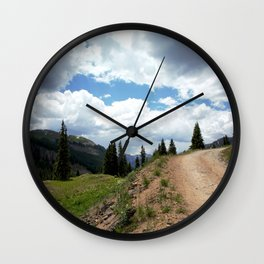 The Road of Life: Venture to Learn What's Around the Next Bend, and Prepare for Stormy Skies Wall Clock