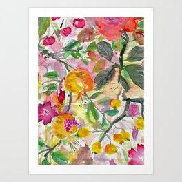 Pomegranate, Fruit and Flowers Art Print