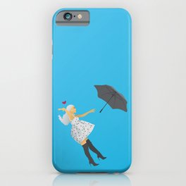 No Tears Left To Cry Ariana - Blue iPhone Case