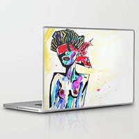 bondage Laptop & iPad Skins featuring Bondage Watercolor by Red Dust