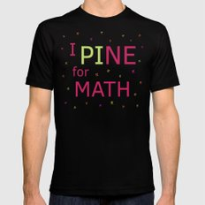 I Pine for Math MEDIUM Black Mens Fitted Tee