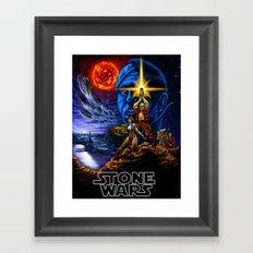 Stone Wars Framed Art Print