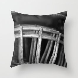 Black and White Facemasks Throw Pillow